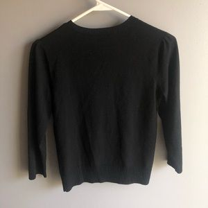 Theory Sweaters - Theory Black Wool Button Front Cardigan